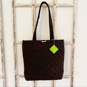 NWT Vera Bradley Quilted Tote Bag in Espresso